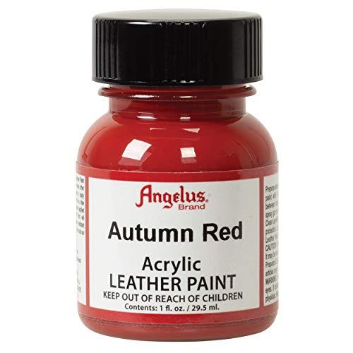 Angelus Acrylic Leather Paint, Autumn Red, 1 oz.