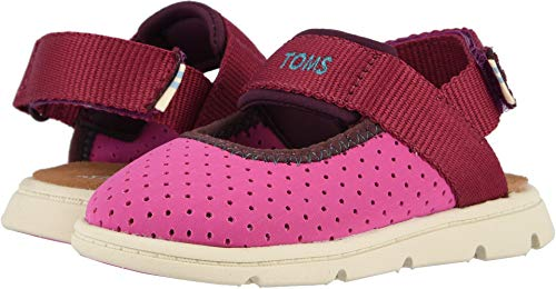 TOMS Kids Baby Girl's Caity (Toddler/Little Kid) Rose Violet Nylon Perforated 9 M US -