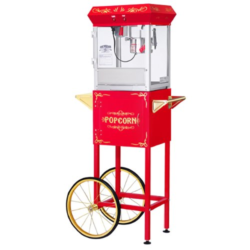- Great Northern Popcorn Red 6 oz. Ounce Foundation Vintage Style Popcorn Machine and Cart