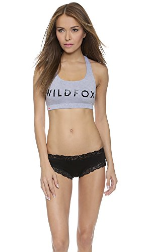 Wildfox Women's Classic Fox Spice Bra, Heather, Medium