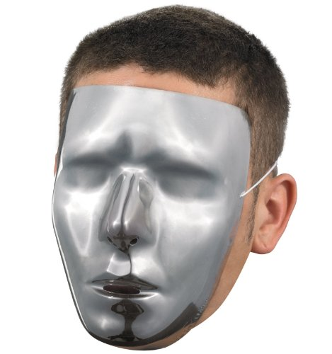 Blank Male Chrome Mask Costume Accessory