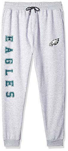 NFL Philadelphia Eagles Men's Jogger Pants Active Basic Fleece Sweatpants, X-Large, Gray