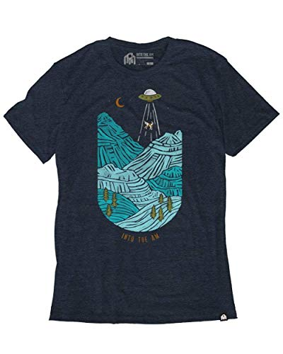 INTO THE AM Abducted Men's Heathered Graphic Tee Shirt (Navy, ()