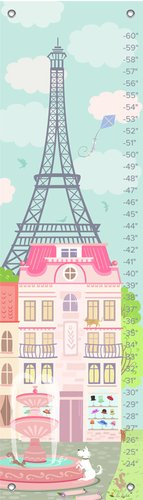Oopsy Daisy Growth Chart, Parisian Afternoon, 12'' x 42'' by Oopsy Daisy
