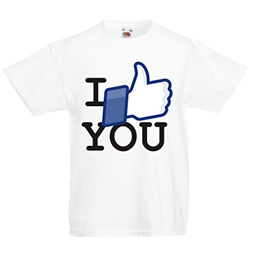 Funny t Shirts For Kids I Like You (7-8 Years White Multi Color)