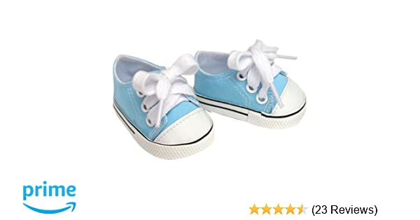 "Aqua Blue High Top Sneakers Shoes fit 18/"" American Girl Size Doll"