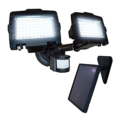 Nature Power 120-LED Dual Lamp Outdoor Solar Security Light with Motion Sensor