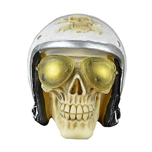 NNCTA Halloween Skull Skull Simulation Handicraft Birthday Gift Skull Head Ornament -