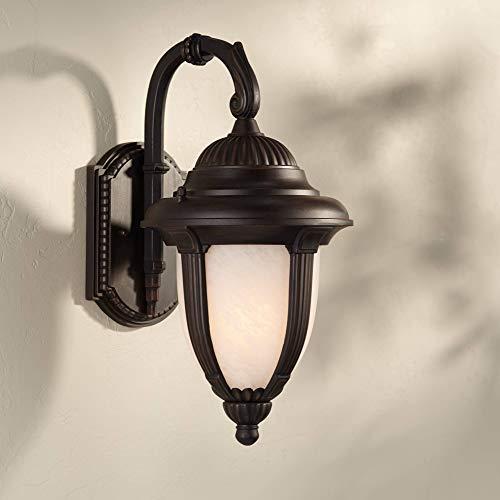 Casa Sorrento Traditional Outdoor Wall Light Fixture Bronze 14 1/2