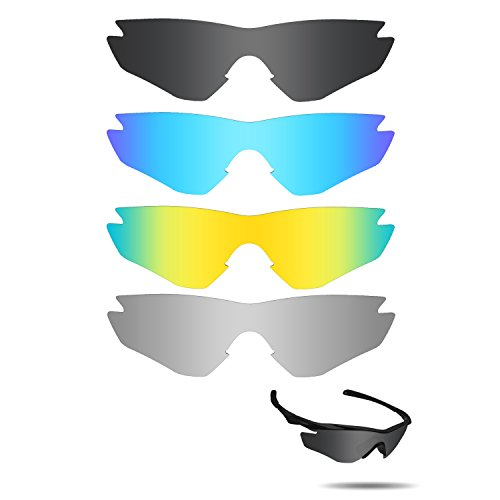 Fiskr Anti-saltwater Replacement Lenses for Oakley M2 Frame Sunglasses 4 Pairs Pack by Fiskr