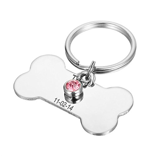 HOUSWEETY Stainless Engraved Personalized Engraving