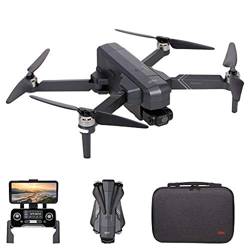 Hometool SJRC F11 4K PRO RC Drone with Camera 4K 2-axis Gimbal Brushless Motor 5G Wifi FPV GPS Quadcopter Point of Interest Waypoint Flight 1500m Control Distance 26mins Flight Time with Storage Bag