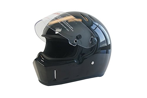 CRG Sports ATV Motocross Motorcycle Scooter Full-Face Fiberglass Helmet DOT Certified ATV-1 Glossy Black Size Large by CRG Sports (Image #8)