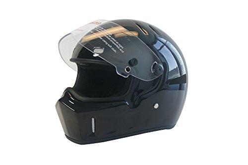 CRG Sports ATV Motocross Motorcycle Scooter Full-Face Fiberglass Helmet DOT Certified ATV-1 Glossy Black Size Large - Dot Certified Motorcycle Helmets