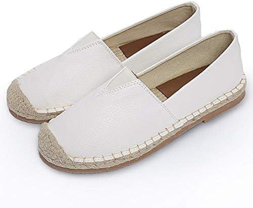 フィッシャーマンシューズレディースシューズレディースシューズフィッシャーマンキャンバス刺繍レイジーボードシューズ夏春と秋のメンズシューズペダルデオドラントカジュアル潮シューズ布靴通気性フラットサンダルとスリッパリネンフラット浅い口の単一の靴は、漁師の靴中空シューズ刺繍入りレディースシューズ (Color : White, Size : 24cm)