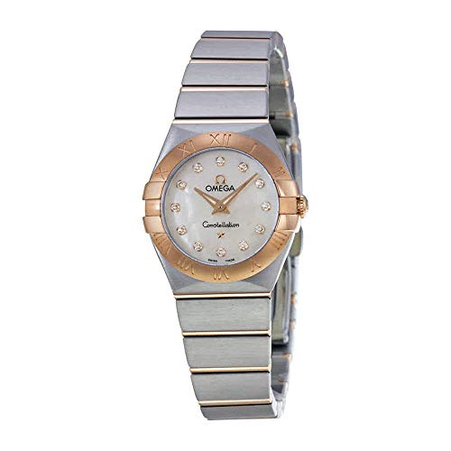 - Omega Women's 12320246055001 Constellation Analog Display Swiss Quartz Silver Watch