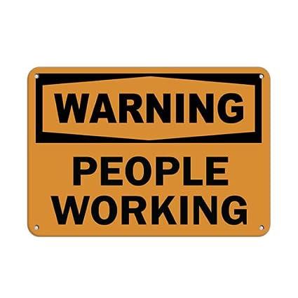amazon com warning people working hazard sign men at work signs