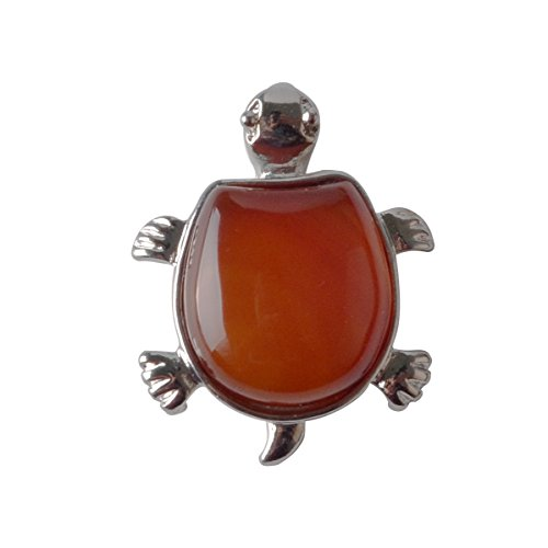 JOYA GIFT Nautral Red Carnelian Gemstone Turtle-shaped Necklace Carnelian Pendant