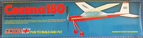 Cessna 180 : DPR Rubber Powered Balsa Wood Model Plane Kit Wingspan 450mm