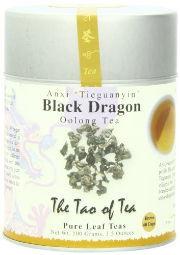 The Tao of Tea, Black Dragon Oolong Tea, Loose Leaf, 3.5 Ounce Tin