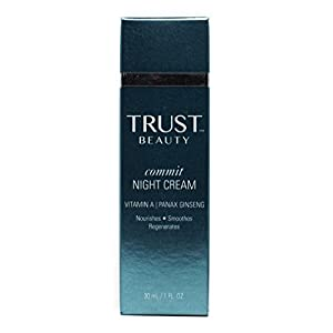 TRUST BEAUTY Commit Age Defying Night Cream. Vitamin A & Panax Ginseng Nourish, Smooth and Regenerate Skin for a More Youthful Appearance. 1 Fl Oz