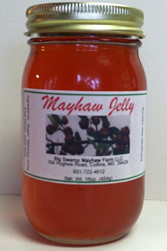 Swamp May-Haw Jelly In A Glass Jar Net Weight 16 Oz