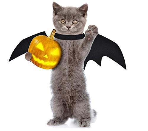 Grenhor Halloween Pet Costume Dog Cat Vampire Wings Fancy Dress Costume Outfit Bat Wings Cats Dogs,1PC