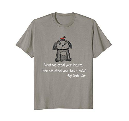 Cute Shih Tzu Teddy Gift T-Shirt (Blue Tzu Shih)