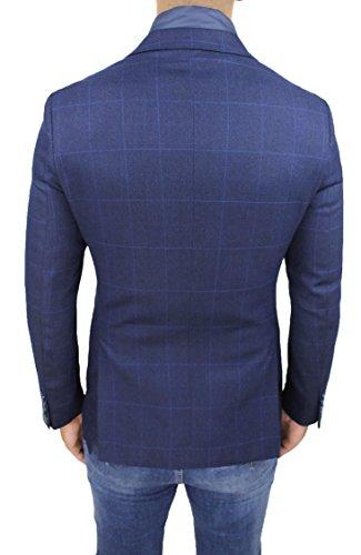Cappotto Gilet Invernale Elegante Con Blu Uomo Quadri Sartoriale Giacca Interno Formale Czd0qdS