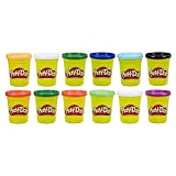 Play-Doh E4830F03 Bulk Winter Colours 12-Pack of Non-Toxic Modelling Compound, 4-Ounce Cans, Multicolour
