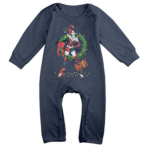 [YOUD X-max Gift Babys Harley Quinn Christmas Long Sleeve Climbing Clothes 6 M] (Baby Golfer Costume)