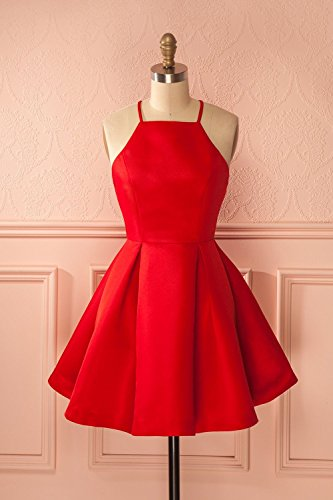 Dresses Party Short Red Homecoming Cute Cocktail Mini Strap Purple Dress ScelleBridal nfZI7q7