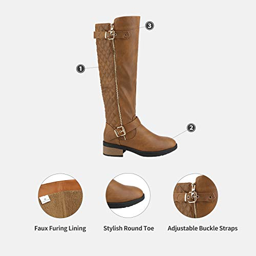 DREAM PAIRS Women's Knee Length Boots