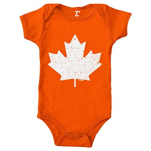 Canadian Maple Leaf - Canada Pride Bodysuit (Orange, 12 Months)