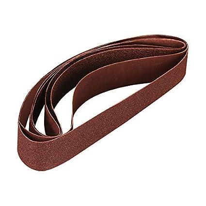 SPTA 1-1//2 x 30 Aluminum Oxide Sanding Belt for Pipe Tube Polisher Sander Grinder fits Metabo Roxx Tools Mix Grit 60#,120#,240#,320# 4Pcs Kit