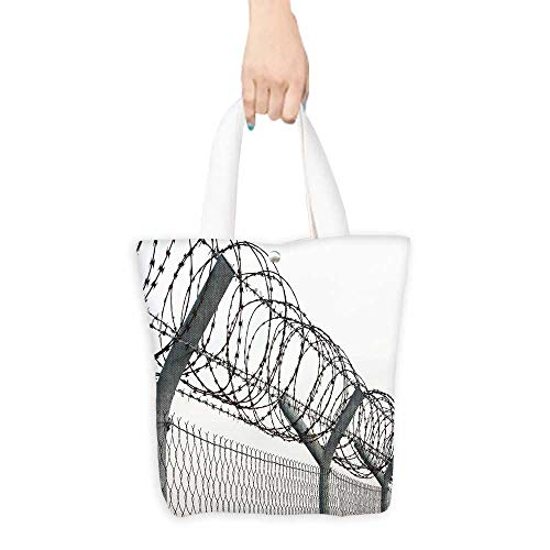 Grocery Bag Fence with a barbed wire (W15.75 x L17.71 Inch)