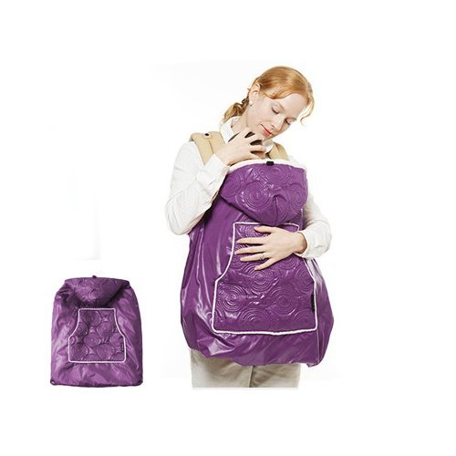 Manito Shiny Skin Infant Carrier Warmer Bunting Stroller Footmuff – Purple 4 Available Colors