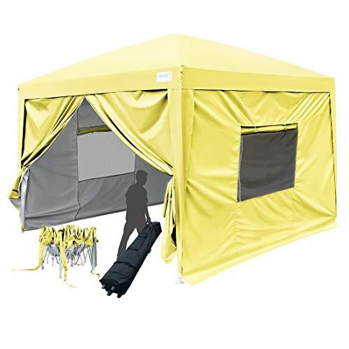 Quictent 2018 Upgraded 8x8 EZ Pop Up Canopy Tent Instant Fol