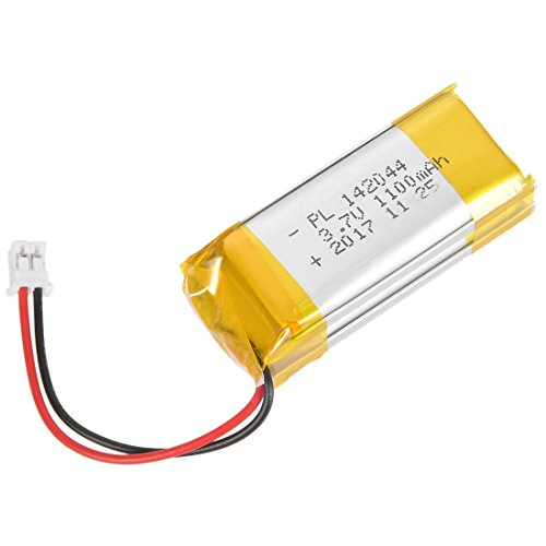 uxcell Power Supply DC 3.7V 1100mAh 142044 Li-ion Rechargeable Lithium Polymer Li-Po Battery