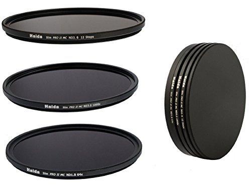 ND8x ND64x ND1000x Hecho de Vidrio /óptico de alta calidad incluido un contenedor de filtro Conjunto de Filtros Serie Profesional Slim PRO II MC de m/últiples capas de densidad neutral 55 mm