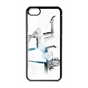 iPhone 5C Cell Phone Case , Fashion Lady Theme Custom Phone Case