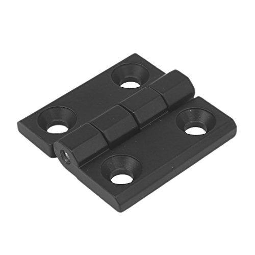 DealMux 40mm x 40mm x 10mm Zinc Alloy 270 Degree Door Bearing Butt Hinge Black