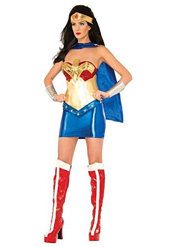 [DC Comics Wonder Woman Classic Deluxe Costume, Multi, Medium] (Bag Lady Halloween Costume)
