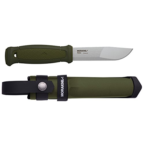 Morakniv Kansbol Fixed Blade Knife with Sandvik Stainless Steel Blade and MOLLE Multi Mount System, 4.3-Inch