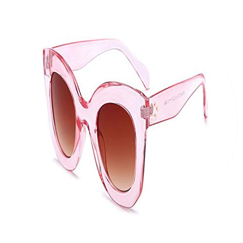 Fashion Cat Eye Sunglasses Women Luxury Oversized Lady Summer Style Square Sun Glasses Rivet Shades ()