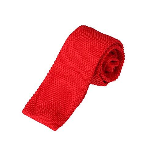 DAO3E01H Crimson Solid Happy Gentlemen Skinny Neck Tie Woven Microfiber Suppliers For Wedding By Dan Smith