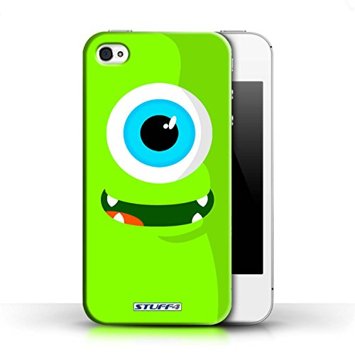 iCHOOSE Print Motif Coque de protection Case / Plastique manchon de telephone Coque pour Apple iPhone 4/4S / Collection Monstres / Vert