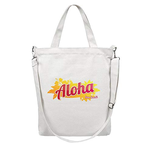 Women'S Tote Craft Bag Large Capacity Casual Shopping Bag Aloha From Hawaii Body Handbag Very Durable Work Shoulder Bag Washable & Eco-Friendly Beach Tote Duck Bag School Crossbody Bag (Hawaiian Hibiscus Candle Bath And Body Works)