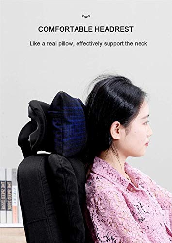 Xiuyun Ofiice stol spelstol datorstol uppgift stol verkställande räddning med hög rygg och lutningsfunktion avtagbart tygskydd ultimat (färg: Rosa)