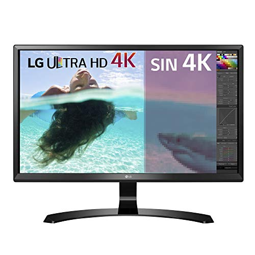 LG 24UD58-B - Monitor Serie 4K de 61 cm (24 pulgadas, 4K Ultra HD, IPS, 3840x2160 pixeles, 5 ms, 16:9, 250 cd/m2, FreeSync,) Color Negro